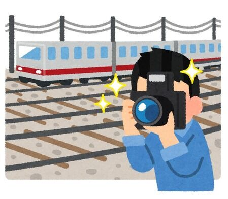 撮り鉄が線路に侵入し電車急停止 停車しても何事もなかったかのようにシャッターを切り続ける