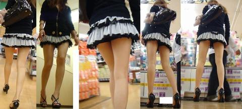 エロいミニスカを履いた街の女の子が隠し撮りされてる
