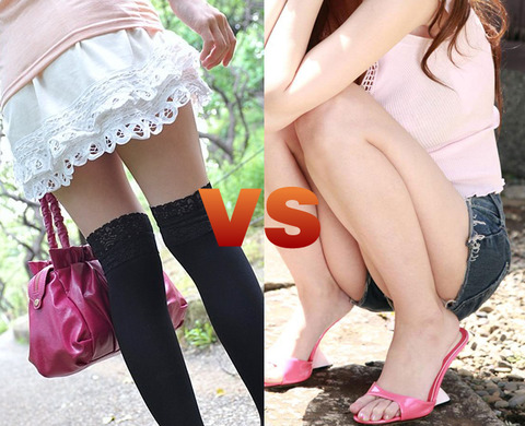 【フェチ対決】 最初のデートの時に着てきて欲しいのは ミニスカート vs ショートパンツ どっち?