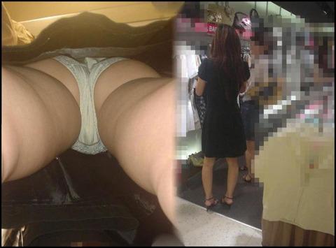 片っ端から女店員を逆さ撮りしてやったぜ~!! 勇気いったぜ~っ!!