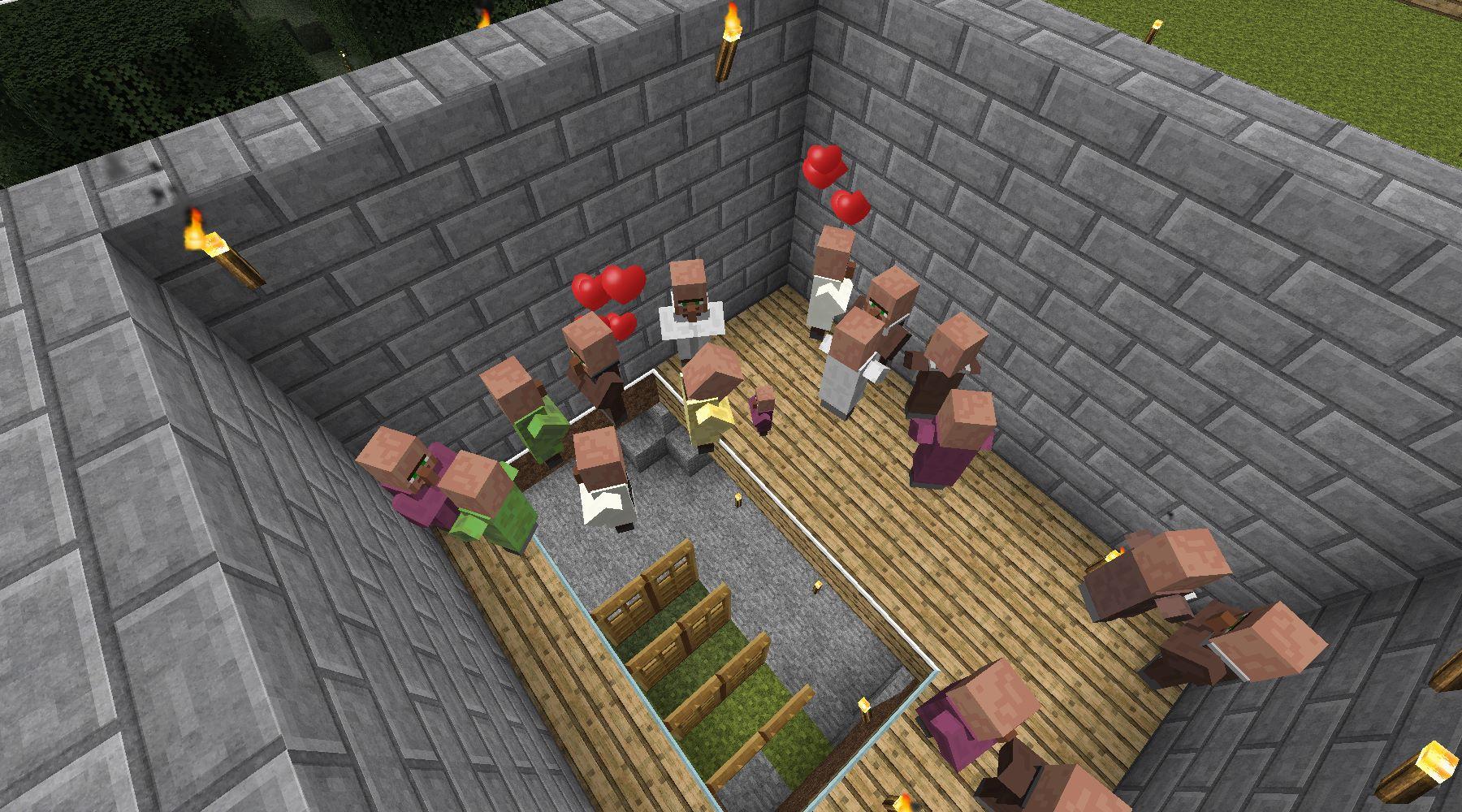 MineCraftチラシの裏 : ゾンビ村発展中