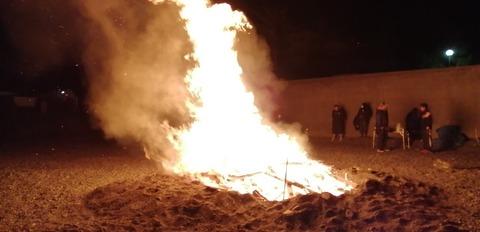 2020初日の出焚火