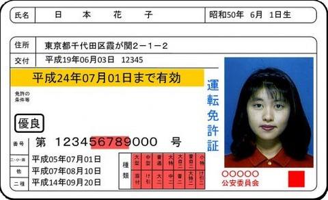 運転免許証サンプル