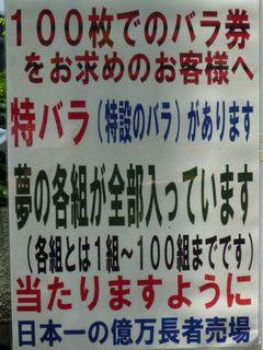 大阪駅前第四ビル特設売場特バラ