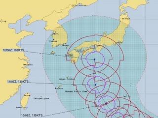 台風19号 米軍合同台風警報センター(jtwc)