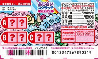 2184あじさいスクラッチ(東京都宝くじ)
