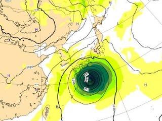 台風19号 ヨーロッパ中期予報センター(ECMWF)