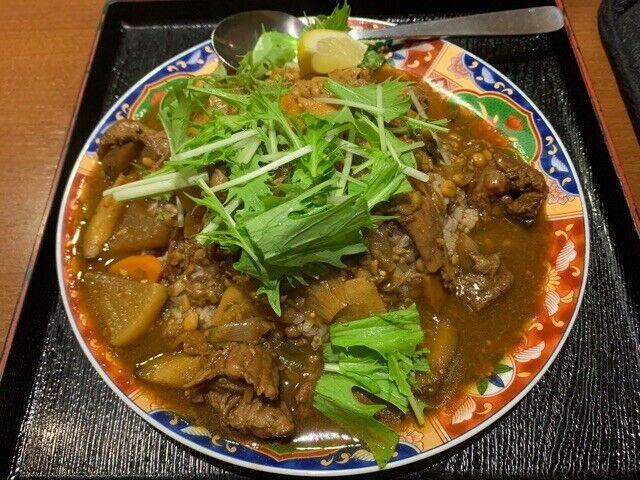 今週は、牛すじ肉と野菜の出汁カレー♪@肥後橋南蛮亭