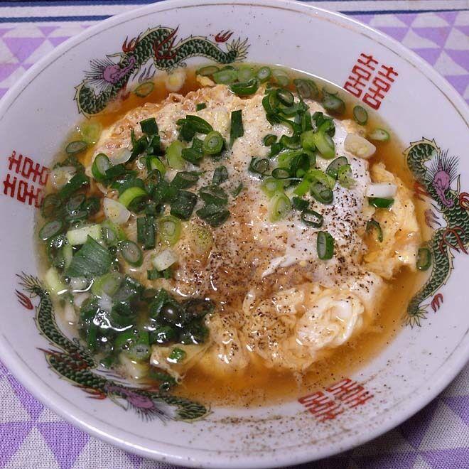 お家で、チキンラーメン~ふわっと卵とじ、すぐオイシイすごくオイシイ!!  200406