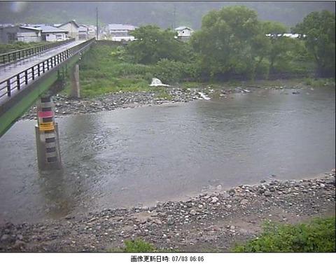 7月3日朝の川の様子