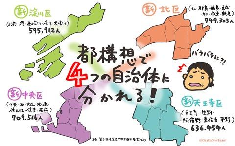 02-014つの特別区に分かれる 大阪都構想