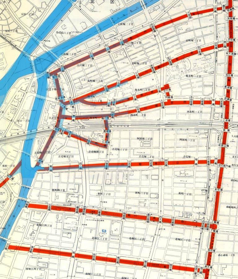 拡大版 西区の埋もれた川 : 大阪を歩こう