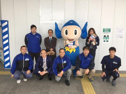 チラシ配布(JR松江駅)