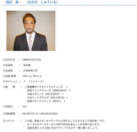 髙田秀一選手