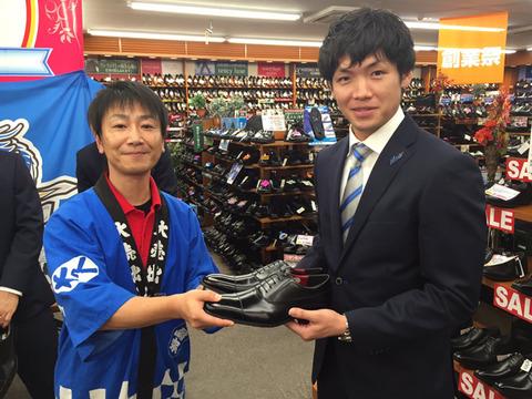 東京靴様イベント:安部選手