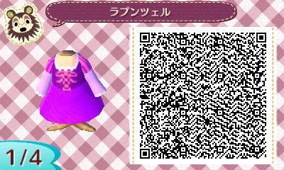 塔の上のラプンツェルです。紫やピンクがベースのドレスなので色合わせが難しかったです。実際作ろうとすると絶妙な色合いにならなくって・・・色とデザイン的にピエロ