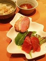前菜:マグロと合鴨のカルパッチョ
