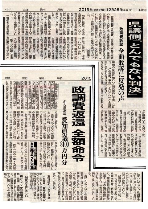 愛知県議会政務調査費判決