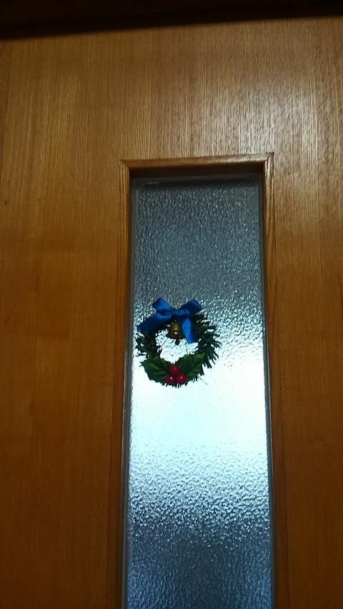 議員控室にかわいいXmasの飾り