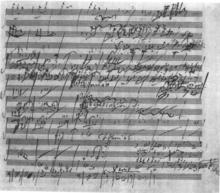 交響曲第6番のスケッチ