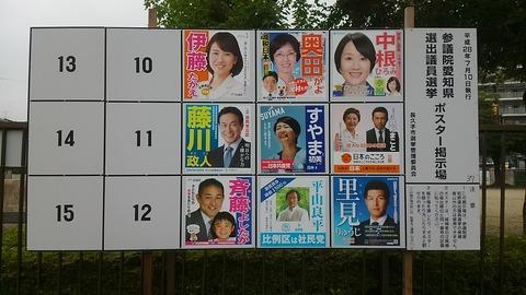 参院選ポスター掲示板