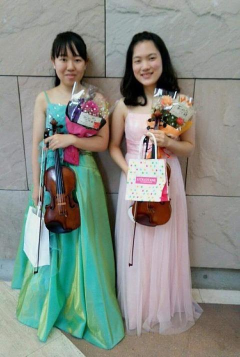 徳田真侑さん、バイオリン
