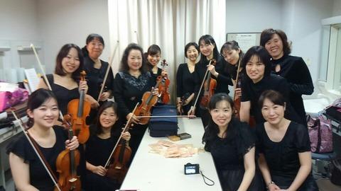 バイオリン楽屋