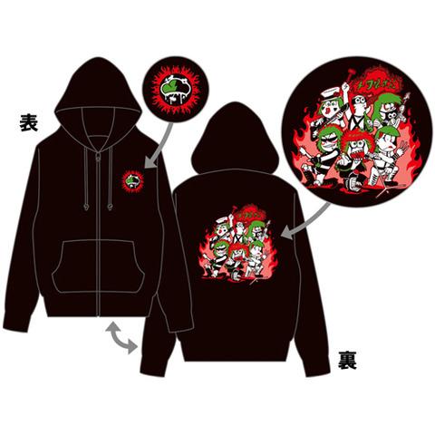 おそ松さんジップパーカーメタル松予約受付中!サイズS/M/L/、2017年06月発売、5400円