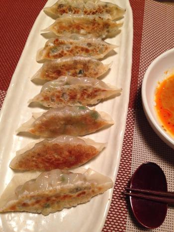 鯖の餃子の調理、完成