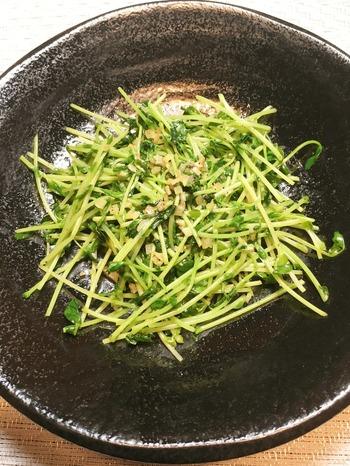 豆苗の中華風ニンニク炒めのレシピ、その7
