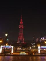 テレビ塔エアアジアX就航記念ライトアップ
