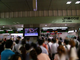 混乱するJR名古屋駅改札