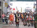 円頓寺商店街に到着した武者行列