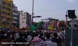 パレード後の真澄田神社前