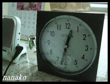 目覚まし時計をゲット♪