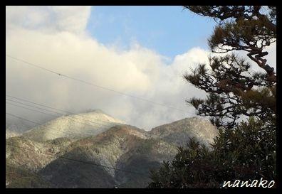 家から見た風越山