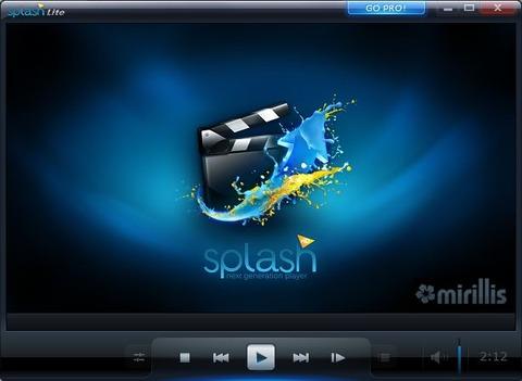 重いHD動画はこれで見る!なめらか再生メディアプレイヤーSplash Lite!