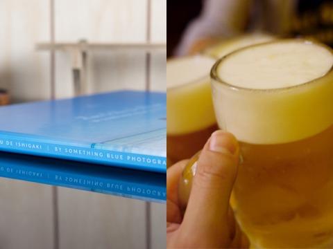 フォトブックとビール