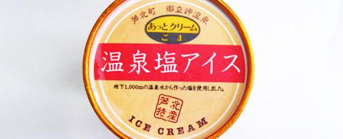 芦北特産を使った温泉塩アイス