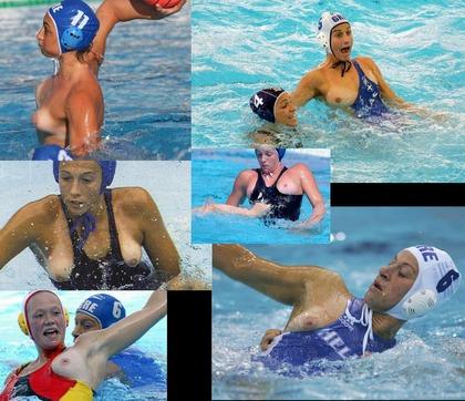 女子水球選手の水着 (8)