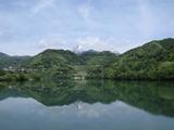 御嶽湖に写る御嶽山
