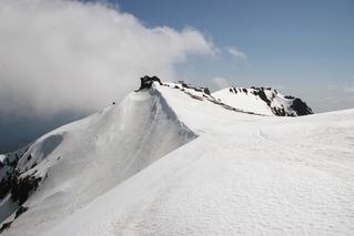 二の池方面から見た王滝頂上