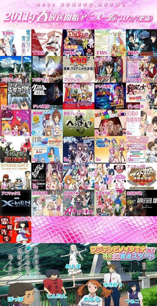 2011 春アニメ