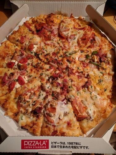 【画像あり】ピザ届いたから食べるぞ