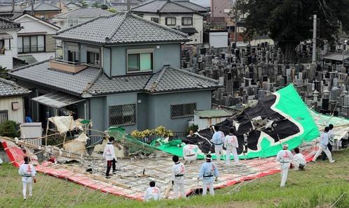 【画像】埼玉に現れた巨大タコ、民家を破壊