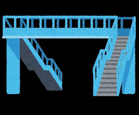 【衝撃画像】作画崩壊してしまってる歩道橋wwwwwwwwwww