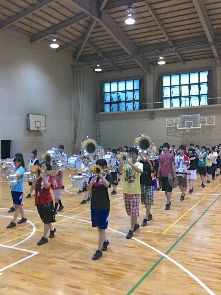 大谷高等学校吹奏楽部OB会前日リハ