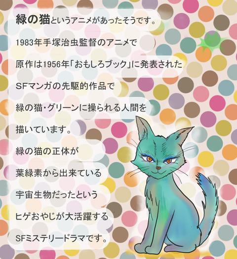 8月10日緑の猫
