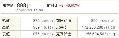 9501東京電力20150803-1前場