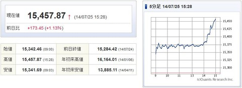 日経平均20140725-1